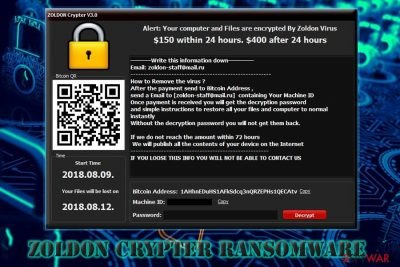 Zoldon Crypter ransomware