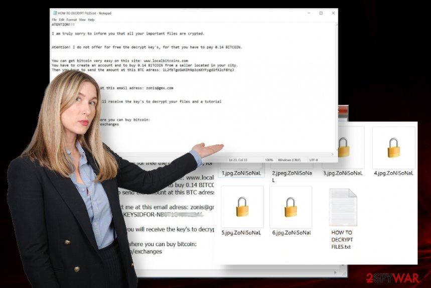 ZoNiSoNaL ransomware virus
