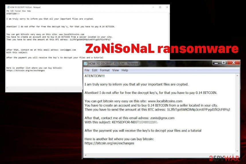 ZoNiSoNaL ransomware