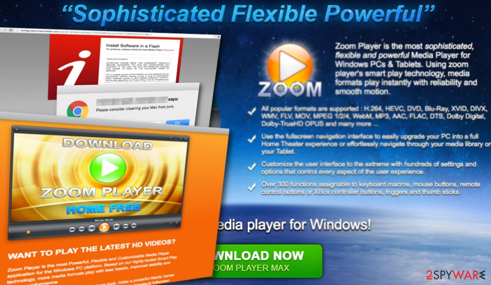 Zoom Player virus exhibits annoying advertisements
