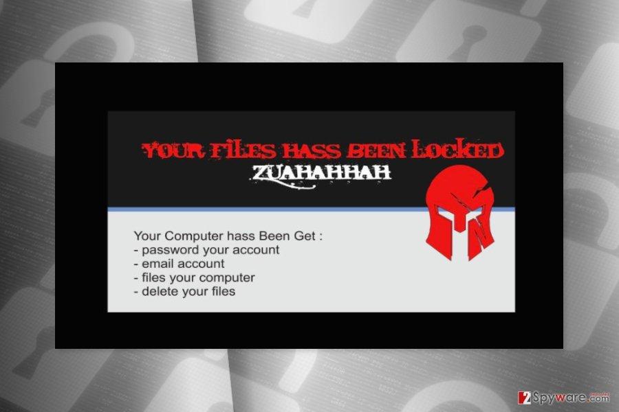 Rasnom note by Zuahahhah ransomware virus