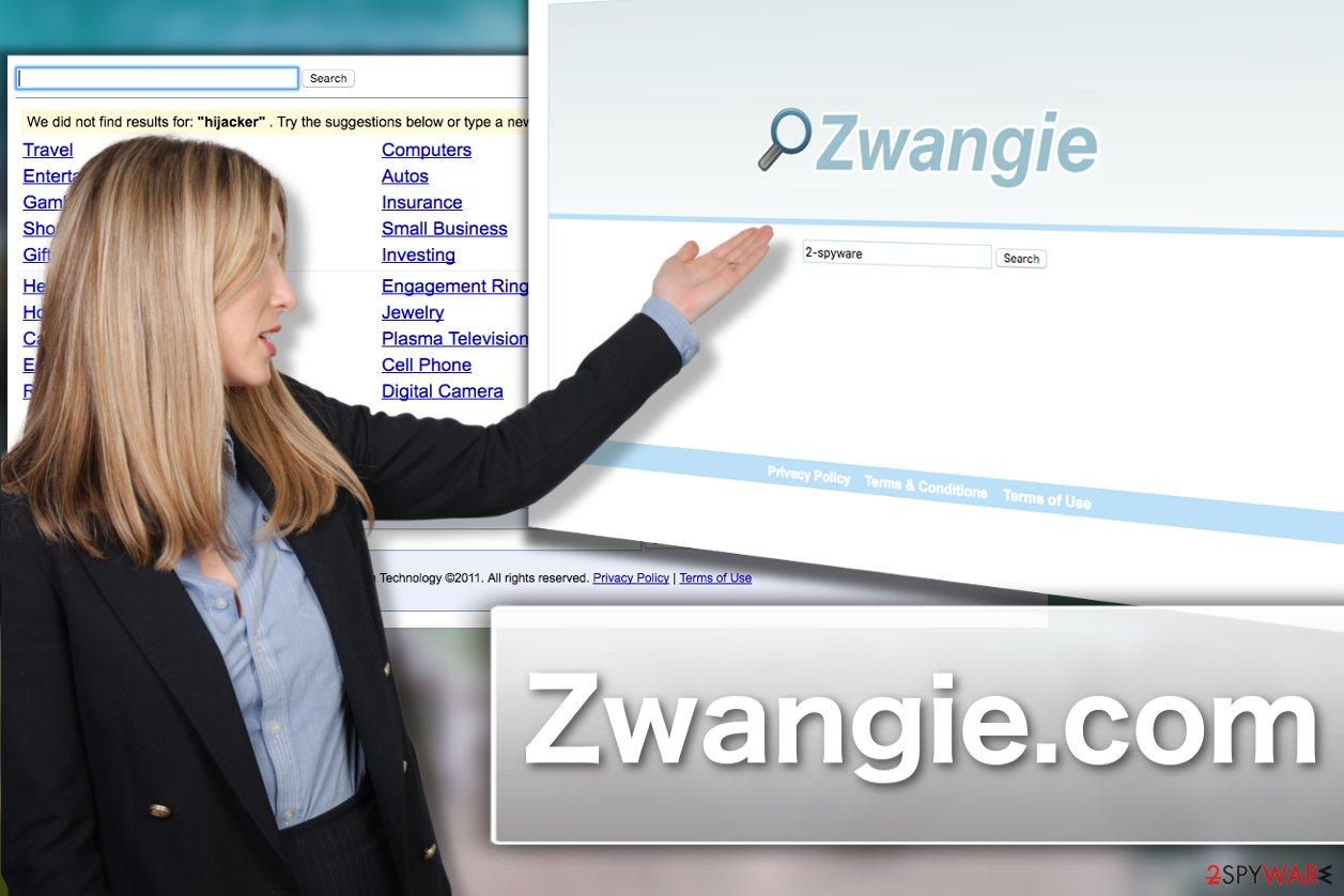 Zwangie.com hijacker virus illustration
