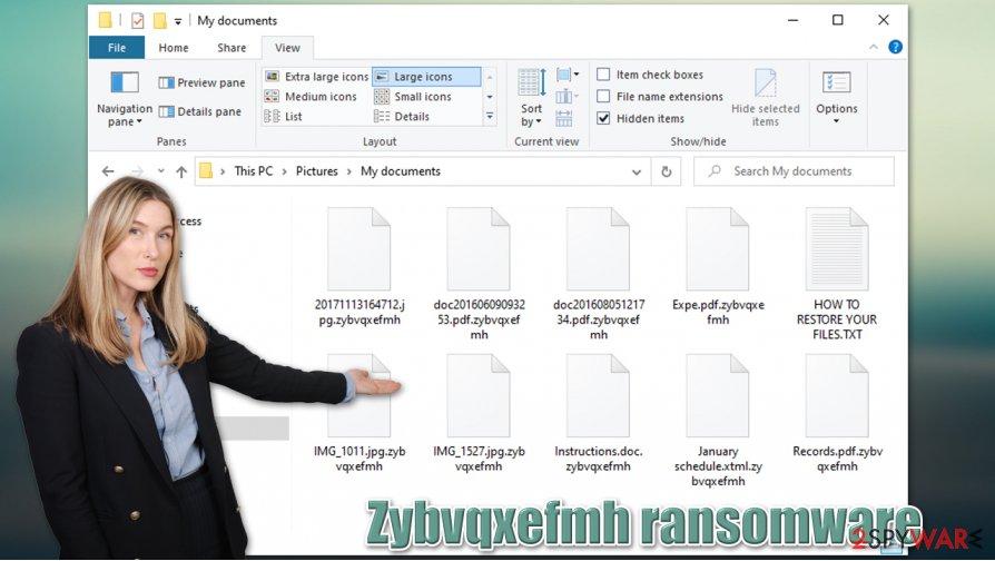 Zybvqxefmh ransomware virus