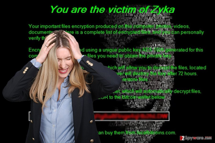Image of Zyka ransomware virus