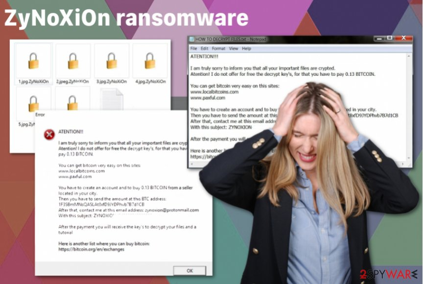 ZyNoXiOn ransomware virus